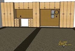 Garage cabinets rendering