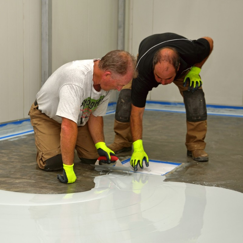 Epoxy application
