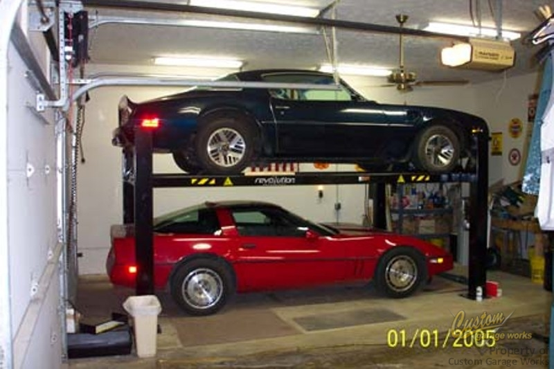 Garage Car Lifts Installed By Custom Garage Works In Fort