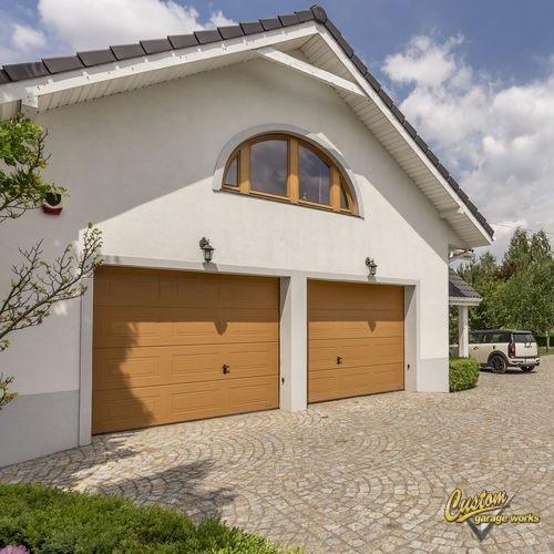 Front View of Double Garage Doors